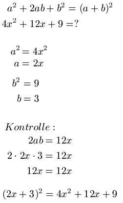 Binomische Formeln Faktorisieren / Ausklammern