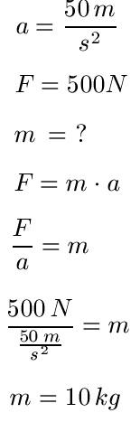 F = m · a