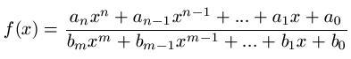 Gebrochenrationale Funktion Definition