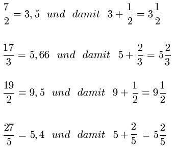 Unechte Brüche In Gemischte Zahlen Umwandeln | Gemischte Zahlen Gemischte Bruche