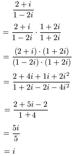 komplexe zahlen dividieren beispiel 1 - Irrationale Zahlen Beispiele