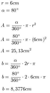 Kreisausschnitt Und Kreissektor Beispiel 1