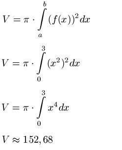 Rotationsvolumen / Volumen Rotationskörper