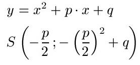 Scheitelpunkt Scheitelpunktform Formel